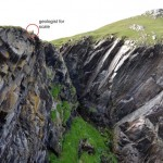 Figure 5.  Shear zone cliffs, North Roe, North Mainland.
