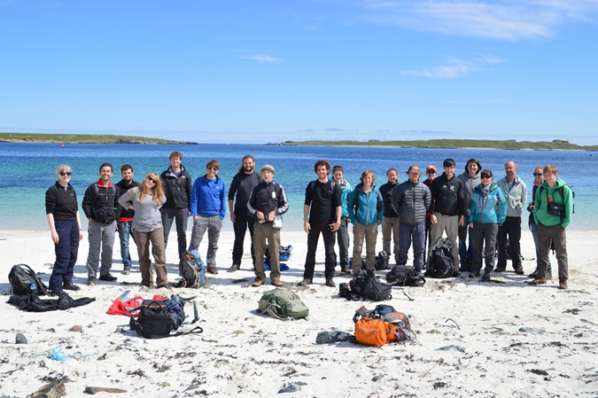 Figure 9. Lunch stop at Swarta Skerry, Unst.