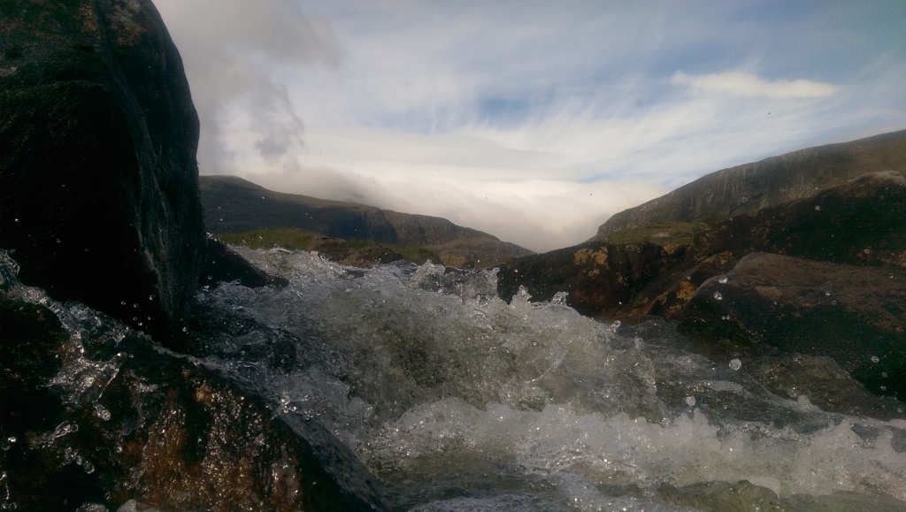 Sunshine and fresh mountain streams. Ideal for clearing away the night before...