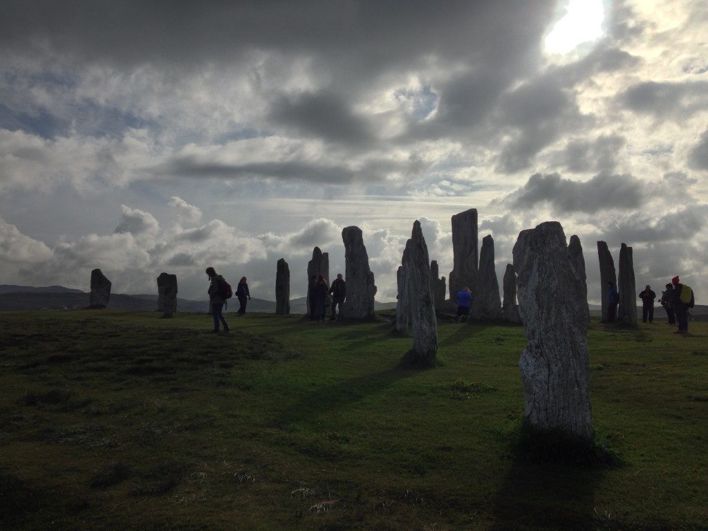 Standing stones at summer solstace