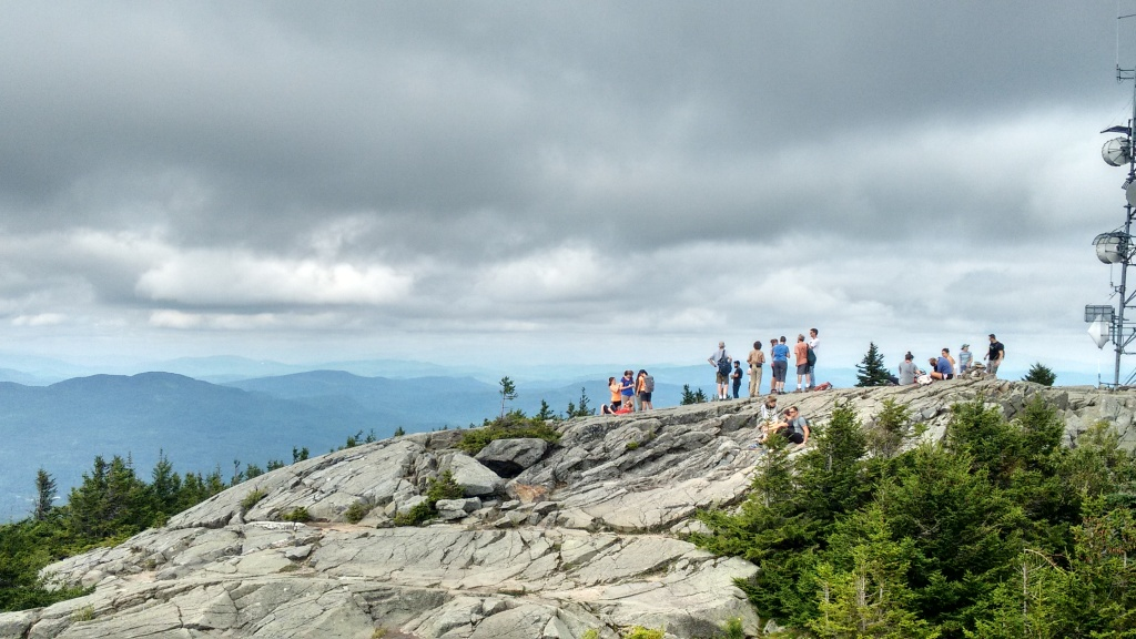 Conference attendees on a lunchtime hike up Mt Kearsarge.
